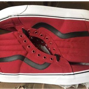 9249e2ebb7f7 Vans Shoes - Vans Sk8 Hi Reissue Canvas Chili Pepper Black